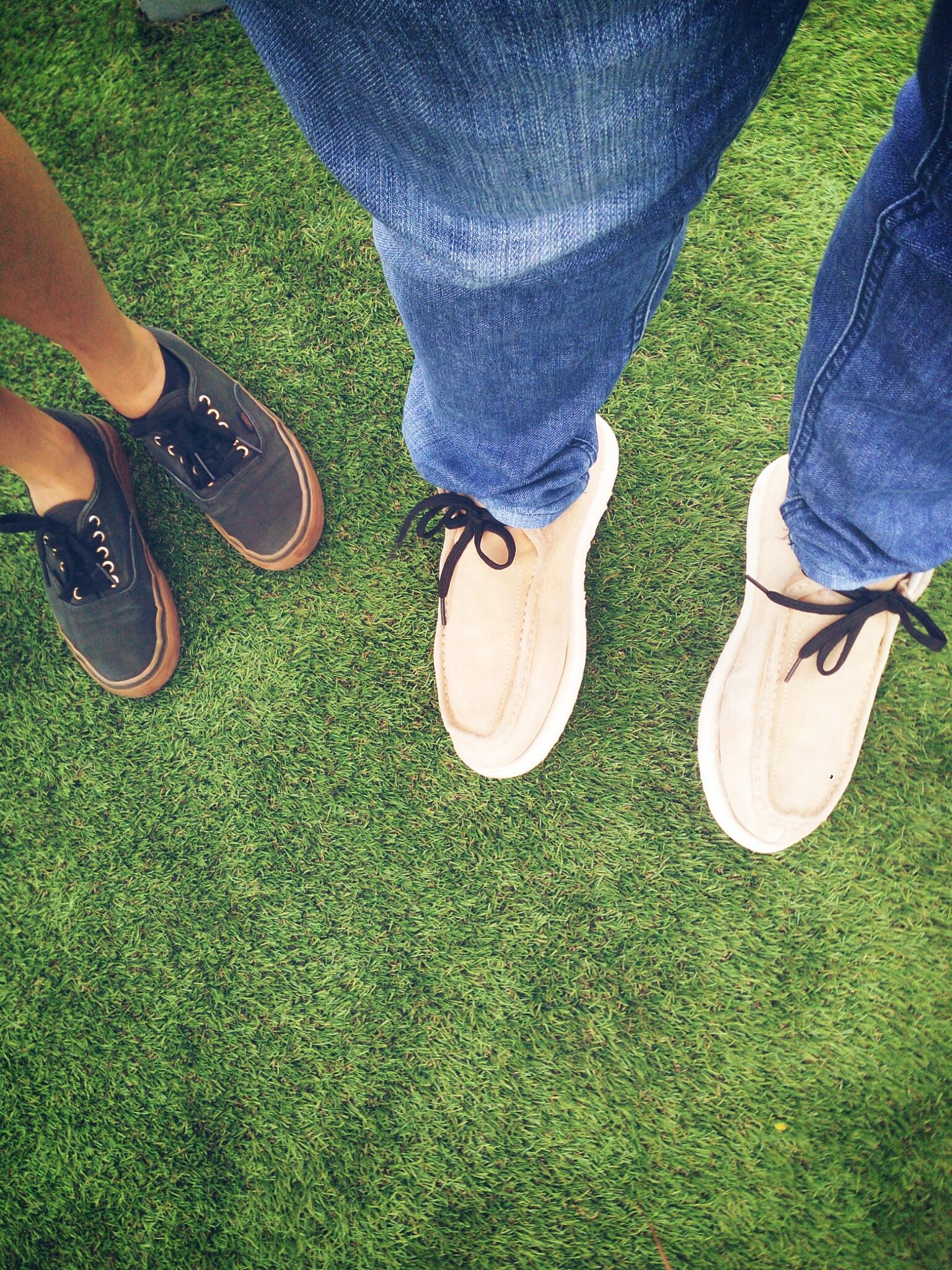Grass, Shoes.
