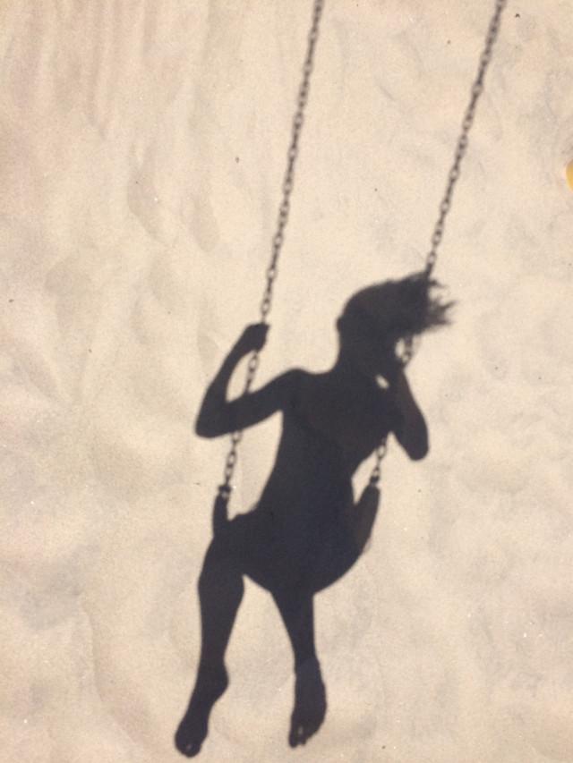 Swinging at the beach