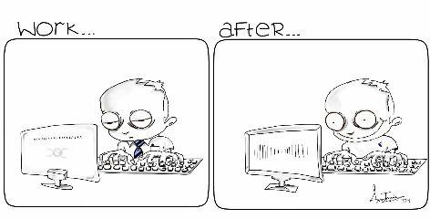 black & white comic strip