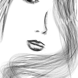 drawing draw cute black & white pencil art