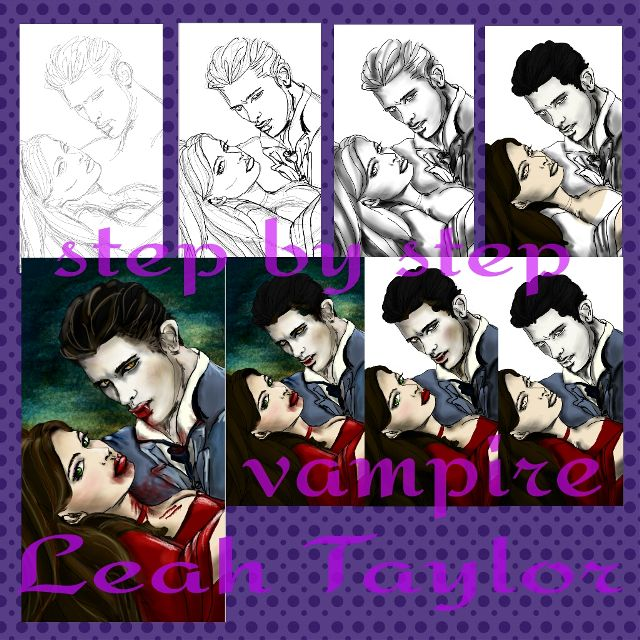 how to draw a vampire step by step with PicsArt