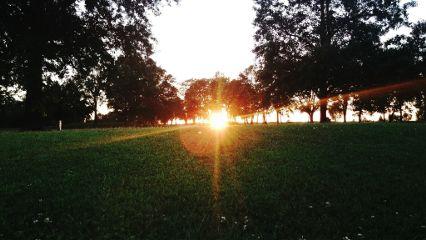 golfing sunset beautiful orange goodnight