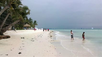 boracay beach philippines summer old photo