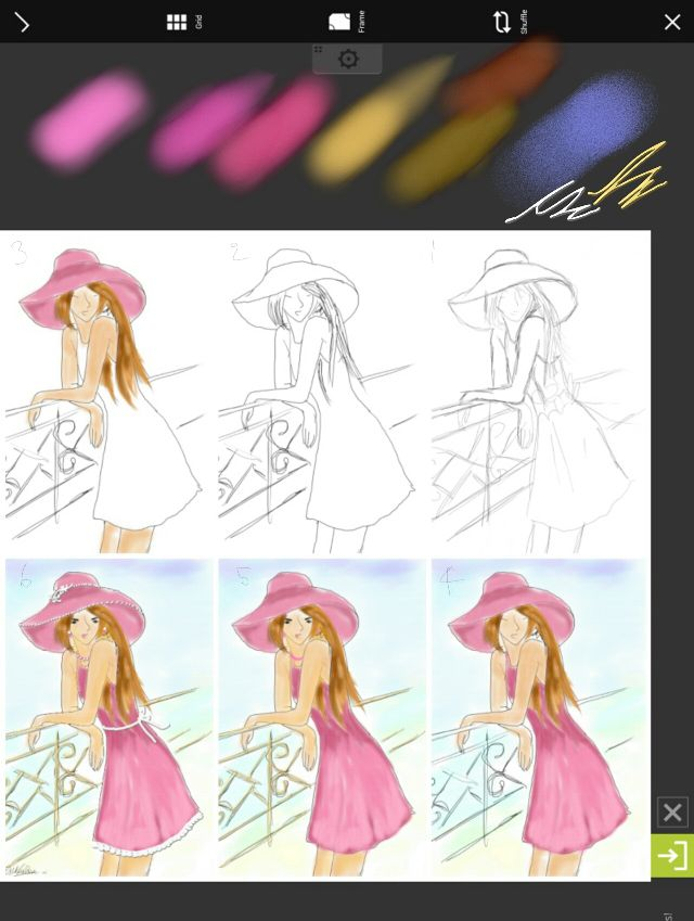 how to draw a fashion sketch with picsart