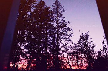 colorful sunset fall