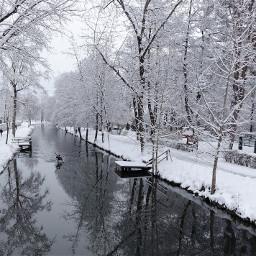 klagenfurt lendkanal wintereinbruch paddeln