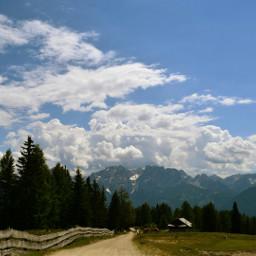 mountains trail