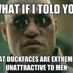 meme duckface