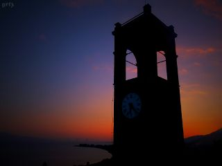 greece photography emotions sunset clock