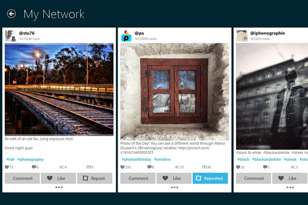 repost feature PicsArt