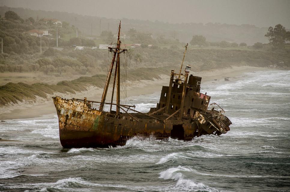 #beach #nature #photography #stormysea #shipwreck